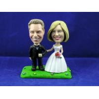Buy cheap Traditional Couple on Grass Cake Topper Bobbleheads from wholesalers