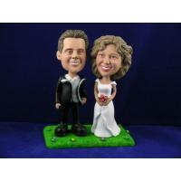 Buy cheap Married Couple Standing on Grass Cake Topper Bobbleheads from wholesalers