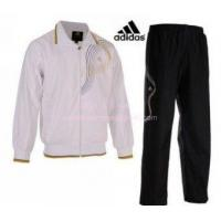 Buy cheap Mens White Adidas Training Suit from wholesalers
