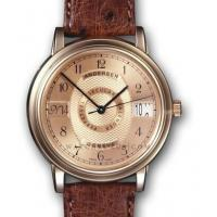 China Replica Andersen The Collection Brown/Pattern/ Design Strap Rose Gold Ladies Swiss Watches on sale