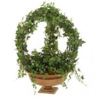 Buy cheap Arched Silk Pittsburgh Ivy Fleur-de-Lis Topiary in a Low Garden Urn from wholesalers