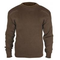Buy cheap Commando Sweaters Brown Acrylic Military Sweater from wholesalers