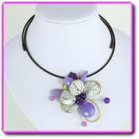 Buy cheap Lavinia Purple Jade Wire Choker from wholesalers