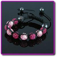 Buy cheap Shamballa Pink Crystal Bracelet from wholesalers