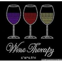 Buy cheap Drink&Wine wine rhinestone design from wholesalers