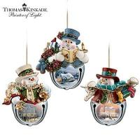 Buy cheap Thomas Kinkade Snow-Bell Holidays Snowman Ornament Collection: Sets Of Three from wholesalers