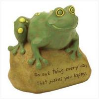 Buy cheap 820272 Garden frog statue on stone from wholesalers
