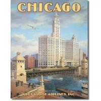 Buy cheap Chicago Grey Goose Airlines Tin Sign from wholesalers