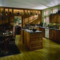 Buy cheap Luxury forest style solid wood kitchen cabient from wholesalers