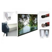 Retractable projection screen quality retractable for Motorized retractable projector screen