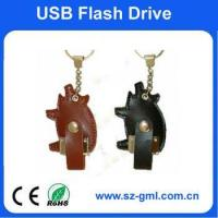 Buy cheap 4GB leather pig shape of usb flash drive with customized logo from wholesalers
