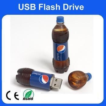 Buy cheap 8GB cola bottle shape of usb flash drivewith customized logo from wholesalers
