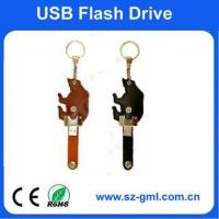 Buy cheap 4GB leather bear shape of usb flash drive with customized logo from wholesalers