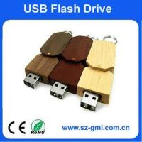 Buy cheap 4GB wooden USB flash drive with customized logo from wholesalers