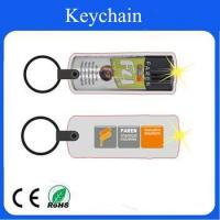 Buy cheap LED pvc wine bottle keychain can accept customized logo product