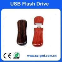 Buy cheap 4GB pear wood USB flash drive from wholesalers