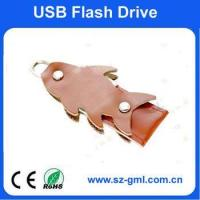 Buy cheap 4GB leather fish USB flash drive from wholesalers
