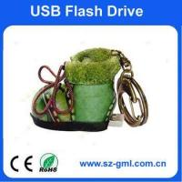 Buy cheap 2GB leather shoe USB flash drive from wholesalers