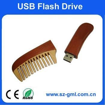 Buy cheap 2GB wood comb USB flash drive with customized logo from wholesalers