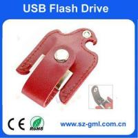 Buy cheap 4GB leather bird of USB flash drive with customized logo from wholesalers