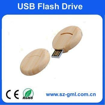 Buy cheap 4GB round wood USB flash drive from wholesalers