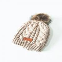 Buy cheap Cap Unisex Elastic Lovely Cat Custom Knitted Hat With Pom from wholesalers