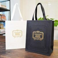 Buy cheap Paper bag Luxury hot foil printed carrier Bags with handle from wholesalers