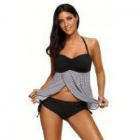 Buy cheap Striped Solid Color Vest Swimsuit Two-piece Suit #LC411598-2 from wholesalers