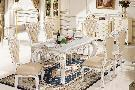 Buy cheap Dining room 909 long counter, 818 chairs pearl white from wholesalers