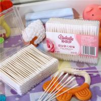 Buy cheap Household products Natural Material Soft Q Tips/Paper Stick Ear Swab/Baby Cotton Bud in Box from wholesalers