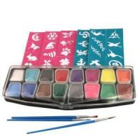 Buy cheap Body Art Face Paint With Stencils and Glitter from wholesalers