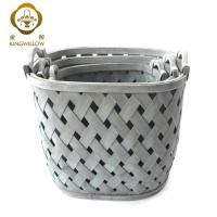 Buy cheap KINGWILLOW,Oval woodchip laundry basket with handle hamper basket from wholesalers