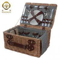 Buy cheap KINGWILLOW,Wicker picnic basket 4 person from wholesalers