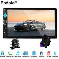 Buy cheap Podofo 2 Din Car Radio Stereo Player Bluetooth AUX-IN MP3/FM/USB/Remote from wholesalers