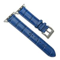 Buy cheap Grained Italian Calf Strap blue alligator pattern leather watch band from wholesalers