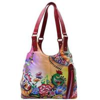 Buy cheap Women Hand Painted Shoulder Bag Stylish Ladies Hobo Floral Designer Bag from wholesalers
