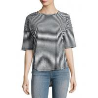 Buy cheap Rag & Bone/jean Valley Striped Relaxed Tee Blue Pattern Women Apparel Tops from wholesalers