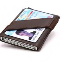 Buy cheap SZT011 RFID Blocking Slim Money Clip Aluminum Wallet Automatic Pop-up Card Case from wholesalers