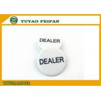 Buy cheap Melamine Material Engrave Dealer Button For Texas Holdem Poker Game from wholesalers