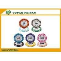Buy cheap Antique Clay Poker Chips Monte Carlo Casino Poker Chip 40 x 3.3 mm from wholesalers
