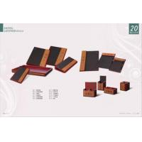 Buy cheap Five star hotel leather product with gold decoration from wholesalers