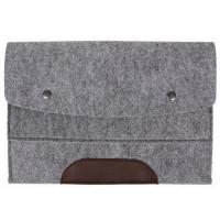 Buy cheap new arrival leather felted felt computer bag for mac from wholesalers