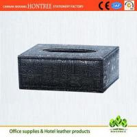 Buy cheap excellent design retro grain genuine leather tissue box for hotel from wholesalers