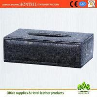 Buy cheap genuine leather car tissue box cover design from wholesalers