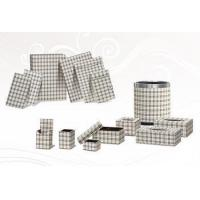 Buy cheap Leather hotel amenities with Lattice design from wholesalers