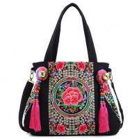 Buy cheap Chinese style Bells tassel canvas handbag from wholesalers