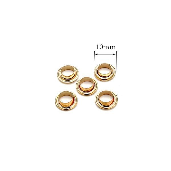 Quality Light Gold 10mm Size Metal Eyelets for Curtain or Garment for sale