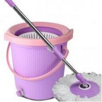 Buy cheap Household Cleaning Supplies Lazy Mop Bucket With Wringer Floor Cleaning Mop,#11010 from wholesalers