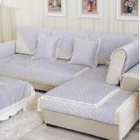 Buy cheap Custom-made sofa cover pure color quilting chenille simple cushion cover plush thick soft slipcover from wholesalers