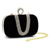 Buy cheap Freeshipping Silt Pocket Interior Slot Women Diamond Luxury Hard Case Clutch Bag from wholesalers